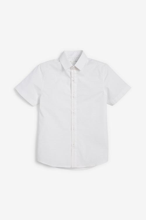 Next Signature Short Sleeve Tonal Geo Smart Shirt (3-16yrs)