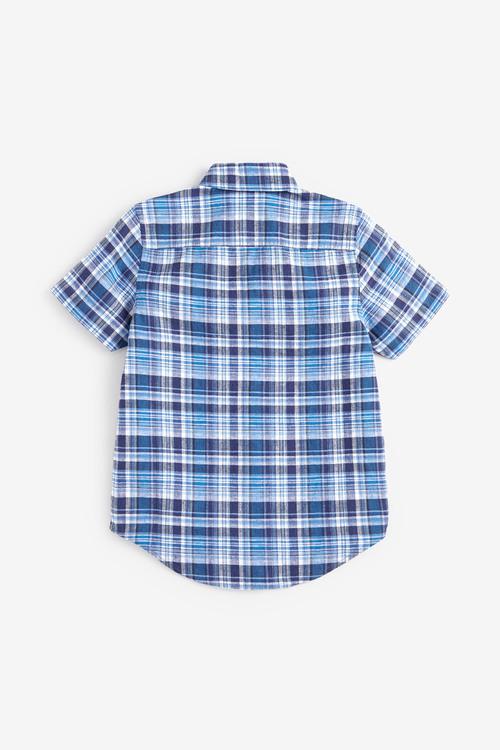 Next Short Sleeve Check Shirt (3-16yrs)