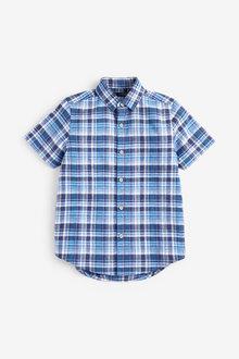 Next Short Sleeve Check Shirt (3-16yrs) - 270078