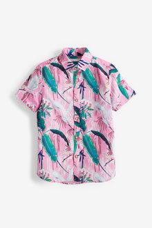 Next Short Sleeve Printed Shirt (3-16yrs) - 270079