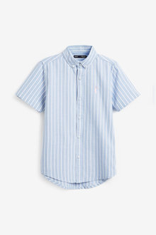 Next Short Sleeve Stripe Oxford Shirt (3-16yrs) - 270080