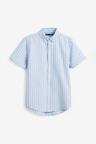 Next Short Sleeve Stripe Oxford Shirt (3-16yrs)