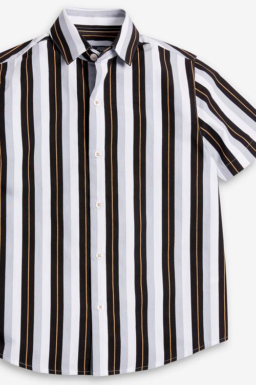 Next Vertical Stripe Short Sleeve Shirt (3-16yrs)