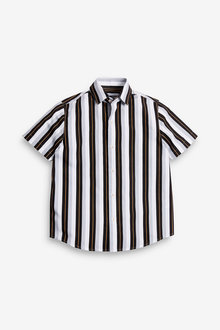 Next Vertical Stripe Short Sleeve Shirt (3-16yrs) - 270085