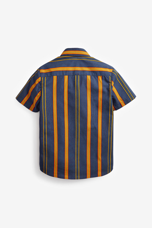 Next Vertical Stripe Short Sleeve Shirt (3-16yrs)