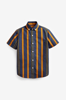 Next Vertical Stripe Short Sleeve Shirt (3-16yrs) - 270087