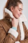 Next Faux Fur Lined Aviator Jacket