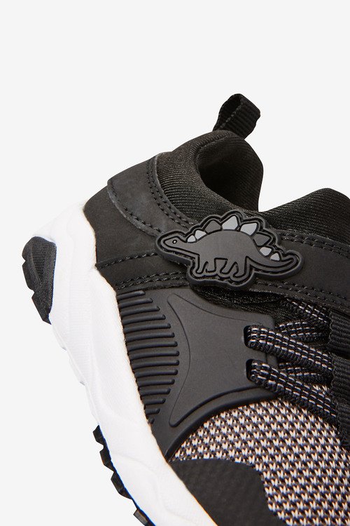 Next Elastic Lace Dinosaur Trainers (Younger)