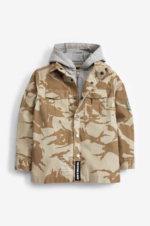 Next Camo Hooded Shacket (3-16yrs) - 270115