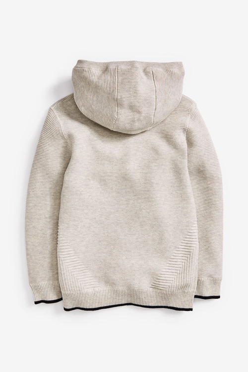 Next Ripple Knitted Zip Neck Hoody (3-16yrs)