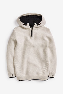 Next Ripple Knitted Zip Neck Hoody (3-16yrs) - 270141