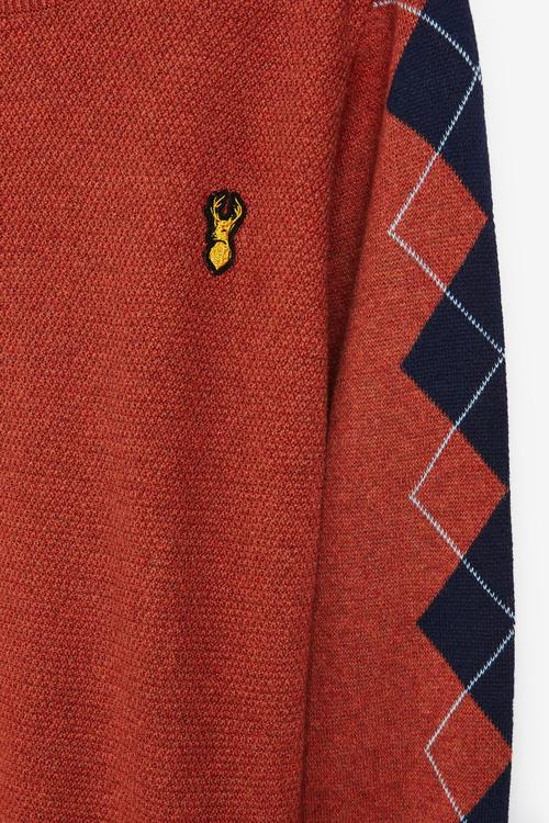 Next Argyle Pattern Sleeve Jumper (3-16yrs)