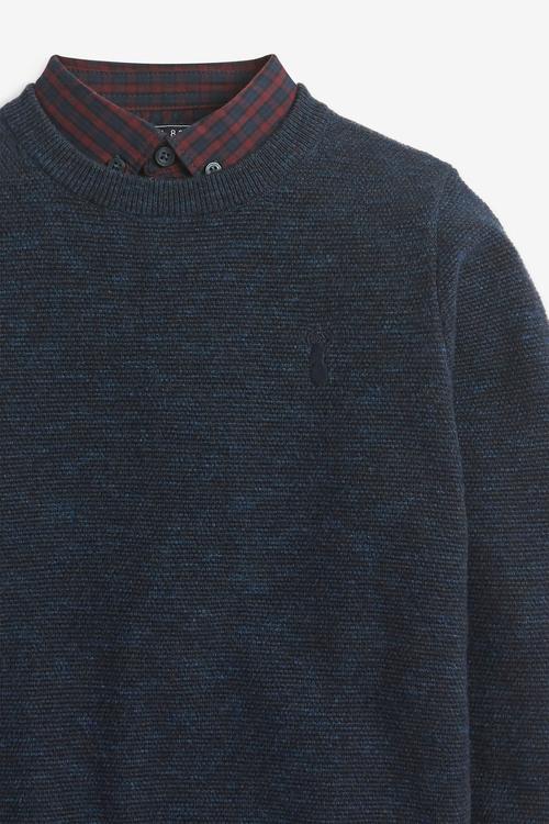 Next Mock Collar Textured Jumper (3-16yrs)