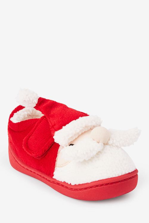 Next Strap Touch Fasten Santa Slippers (Younger)