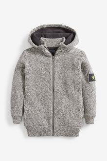 Next Zip Through Borg Lined Hooded Cardigan (3-16yrs) - 270189