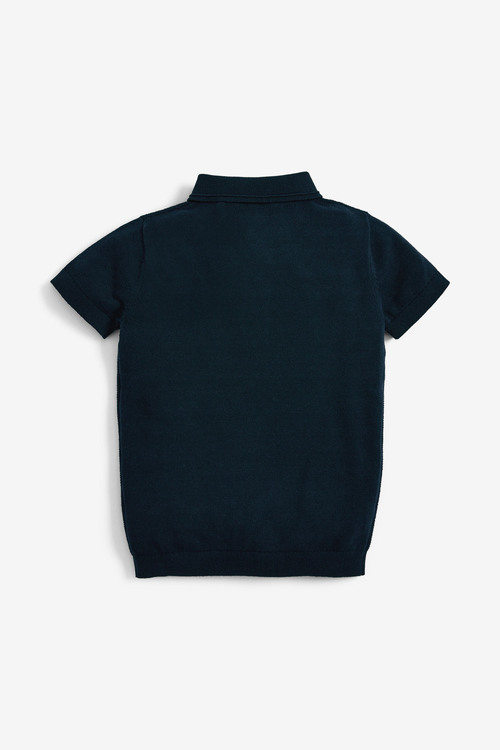 Next Textured Knitted Polo (3-16yrs)