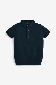 Next Textured Knitted Polo (3-16yrs) - 270194
