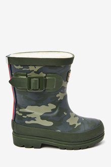 Next Tiger Warm Lined Buckle Wellies (Younger) - 270208