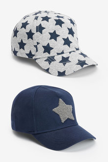Next 2 Pack Star Caps (Younger) - 270250