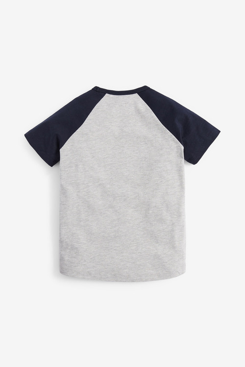Next 4 Pack Raglan T-Shirts (3-16yrs)