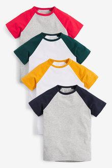 Next 4 Pack Raglan T-Shirts (3-16yrs) - 270254