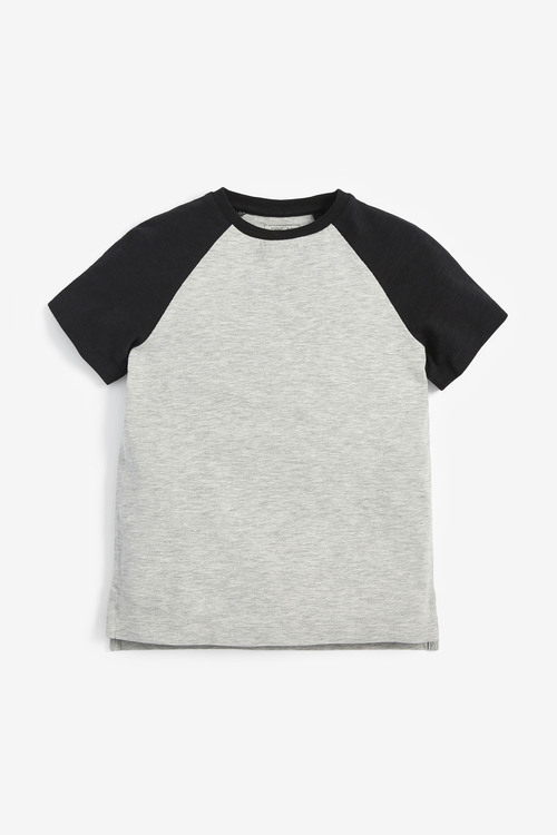 Next 3 Pack Camo Short Sleeve Raglan T-Shirts (3-16yrs)