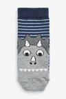 Next 7 Pack Cotton Rich Dinosaur Stripe Socks (Younger)