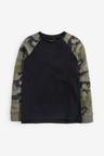 Next 3 Pack Camo Raglan T-Shirts (3-16yrs)