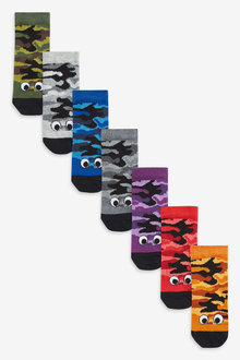 Next 7 Pack Glow In The Dark Camouflage Socks (Younger) - 270269