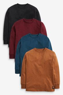 Next 4 Pack Long Sleeve Jersey T-Shirt (3-16yrs) - 270279