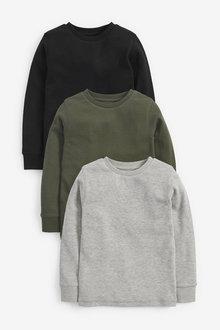 Next 3 Pack Cosy Eyelet T-Shirts (3-16yrs) - 270286