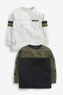 Next 2 Pack Colourblock T-Shirts (3-16yrs) - 270296