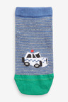 Next 7 Pack Cotton Rich Transport Trainer Socks (Younger)