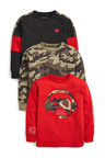 Next 3 Pack Controller Long Sleeve T-Shirts (3-16yrs)