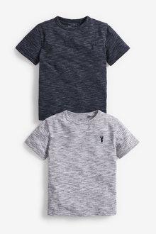 Next 2 Pack Textured T-Shirts (3-16yrs) - 270321