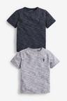 Next 2 Pack Textured T-Shirts (3-16yrs)
