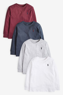 Next 4 Pack Stag Embroidery T-Shirts (3-16yrs) - 270322