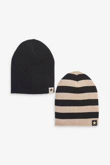 Next 2 Pack Beanie Hats (Younger) - 270328