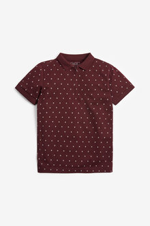 Next Geo Short Sleeve Poloshirt (3-16yrs) - 270339