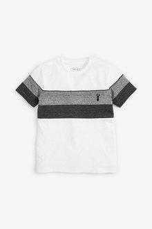 Next Textured Colourblock T-Shirt (3-16yrs) - 270344