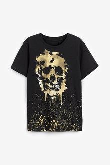 Next Gold Skull T-Shirt (3-16yrs) - 270359
