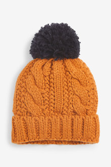Next Cable Pom Beanie Hat (Younger) - 270368