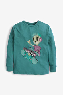 Next Skeleton Skate T-Shirt (3-16yrs) - 270385