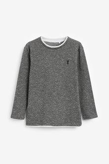 Next Mock Layer Textured T-Shirt (3-16yrs) - 270391