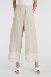 Grace Hill Linen Blend Wrap Pant - 270456