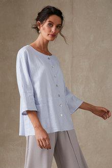 Grace Hill Linen Blend Shirt Jacket - 270457