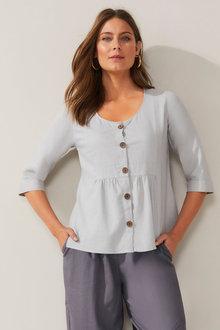 Grace Hill Linen Blend Shirt Jacket - 270458