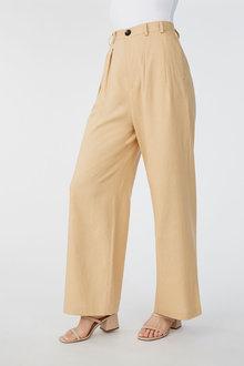 Grace Hill Linen Blend Pleat Front Pant - 270461