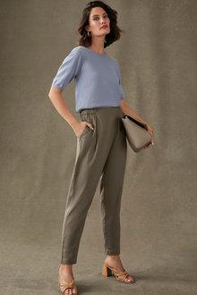 Grace Hill Linen Blend Wrap Pant - 270463