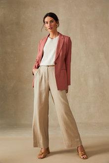 Grace Hill Linen Blend Wide Leg Pant - 270465